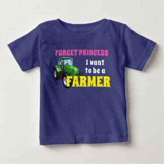 """Lustig """"ich will, um ein Bauer zu sein """" Baby T-shirt"""