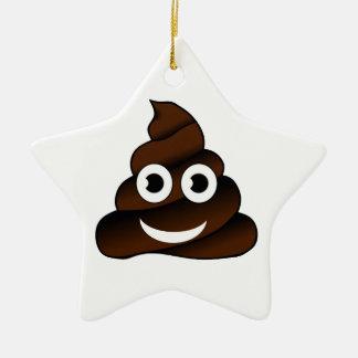 lustig kacken Sie emoji Keramik Stern-Ornament