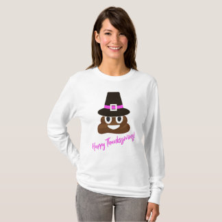 Lustig kacken Sie Emoji Pilger-Erntedank-Shirt T-Shirt