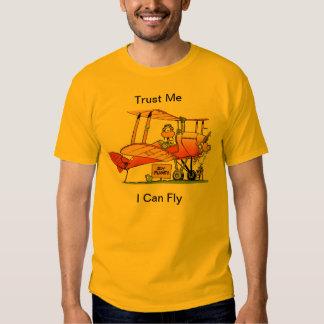 Lustig kann ich Cartoon fliegen Tshirts