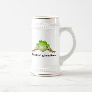 Lustig konnte einen Frosch-Cartoon nicht geben Bierglas