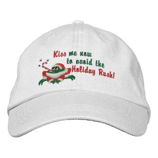 Lustig küssen Sie mich jetzt Frosch Bestickte Baseballkappen
