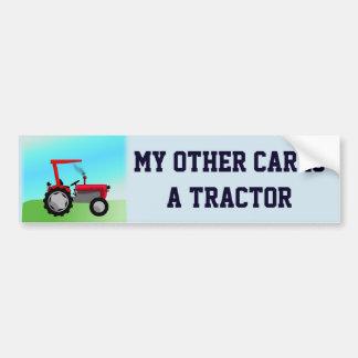 """Lustig """"mein anderes Auto ist ein Traktor """" Autoaufkleber"""