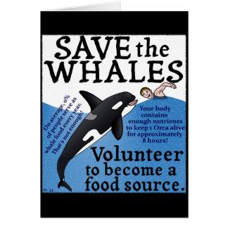 Lustig retten Sie den Walen Satirespoof-Spaß Karte