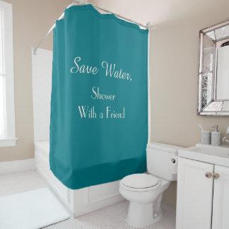 Lustig retten Sie Duschvorhang