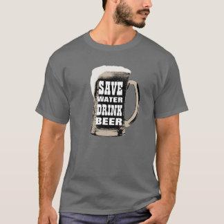 Lustig retten Sie Wasser-Getränk-Bier T-Shirt