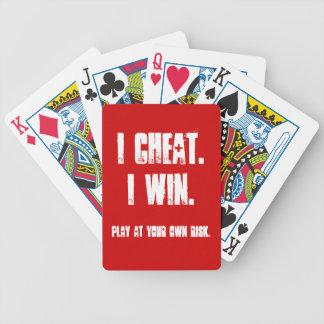 Lustig sind alle Wetten weg vom Poker-Spiel-Party- Bicycle Spielkarten