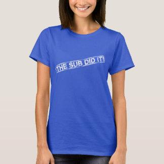 Lustig tat die Subvention es Shirt
