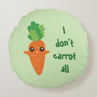 Lustig tue ich nicht Karotte aller Rundes Kissen