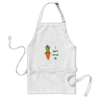 Lustig tue ich nicht Karotte aller Schürze