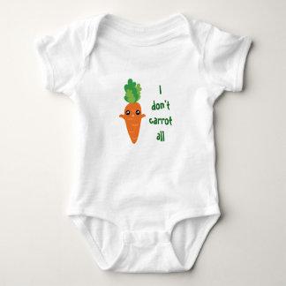 Lustig tue ich nicht Karotte aller Unisex Baby Strampler