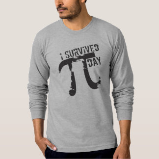 Lustig überlebte ich PU-Tagest-shirts - PU-Symbol T-Shirt