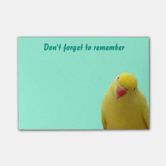 """Lustig """"vergessen Sie nicht"""" Vogel-klebrige Post-it Haftnotiz"""
