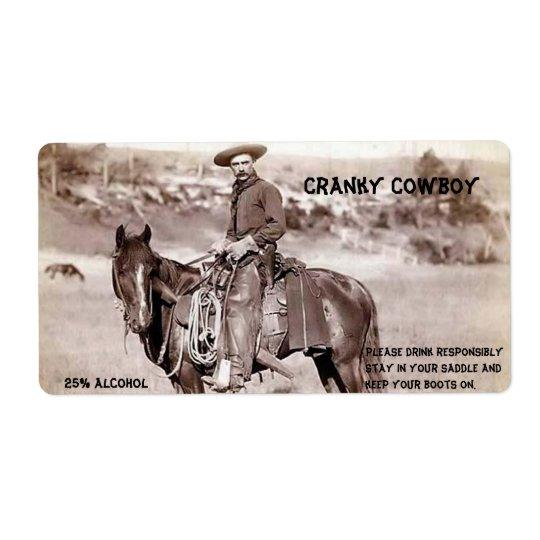Lustig, Vintag, Cowboy, kundenspezifischer