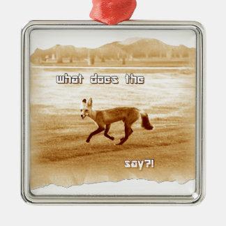 lustig, was den Fuchs tut, sagen Sie Silbernes Ornament