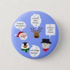Lustig wünschen wir Ihnen frohen Weihnachten - Runder Button 5,1 Cm