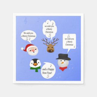Lustig wünschen wir Ihnen frohen Weihnachten - Serviette
