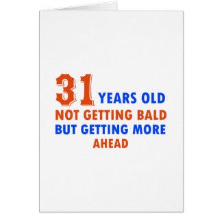 lustige 31 Jahre alte Geburtstagsentwurf Karte