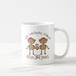 Lustige 34. Hochzeitstag-Geschenke Kaffeetasse