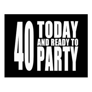 Lustige 40. Geburtstage: 40 heute und bereiten Sie