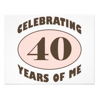 Lustige 40. Geburtstags-Geschenke Einladungen
