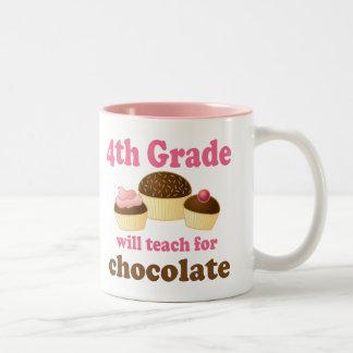 Lustige 4. Grad-Lehrer-Tasse Zweifarbige Tasse