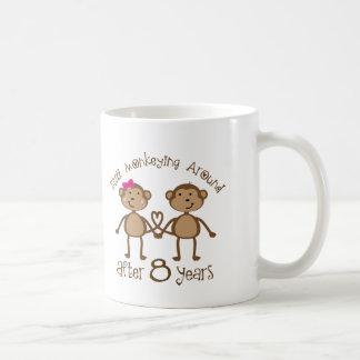 Lustige 8. Hochzeitstag-Geschenke Kaffeetasse