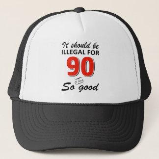 Lustige 90. jährige Geburtstagsentwürfe Truckerkappe