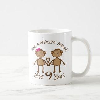 Lustige 9. Hochzeitstag-Geschenke Tasse