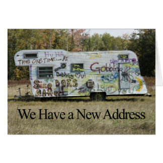 Lustige Adressenänderung Karte - Graffiti-Anhänger
