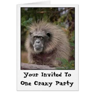 Lustige Affe-Party Einladung Mitteilungskarte