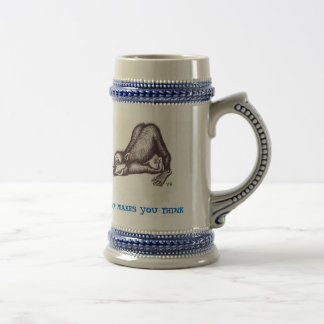 Lustige Affebier-Tasse