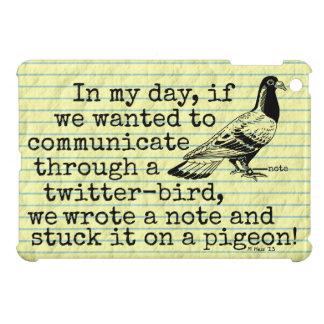 Lustige altes Alters-Twitter-Vogel-Taube iPad Mini Hülle