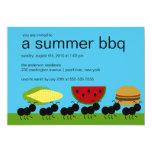 Lustige AMEISEN Sommer GRILLEN Schlag-Einladung