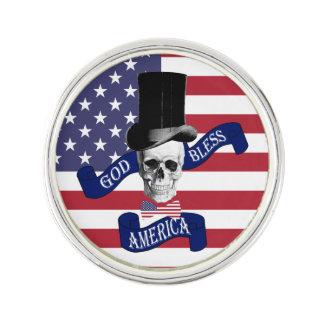Lustige amerikanische Flagge Anstecknadel