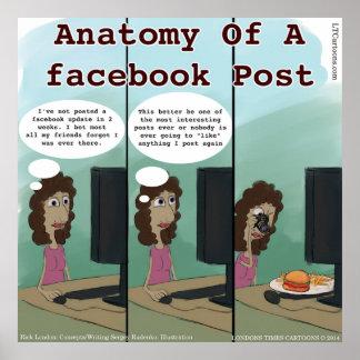 Lustige Anatomie von A facebook Posten Poster