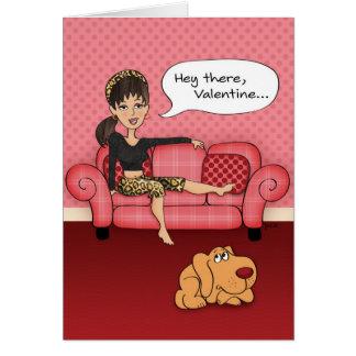 Lustige andeutende Valentinstag-Karte Grußkarte