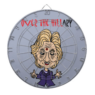 Lustige Antipolitische Kunst Hillary Clintons Dartscheibe