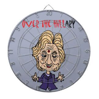Lustige Antipolitische Kunst Hillary Clintons Dartscheiben