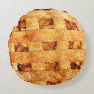 Lustige Apfelkuchen-Neuheits-Kissen Rundes Kissen