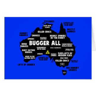 Lustige australische Karte