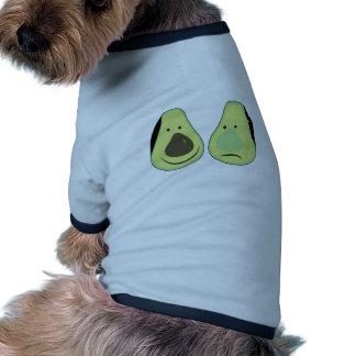 Lustige Avocado Ringer Hunde-Shirt