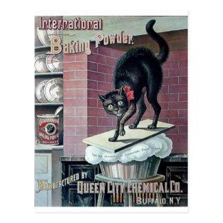 Lustige Backpulver-Plakatanzeige der schwarzen Postkarte