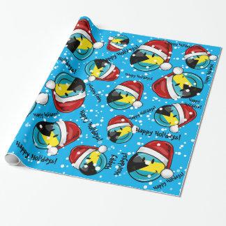 Lustige Bahamas-Flaggen-Weihnachtsart Geschenkpapier