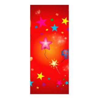 Lustige Ballone und Sterne 10,2 X 23,5 Cm Einladungskarte