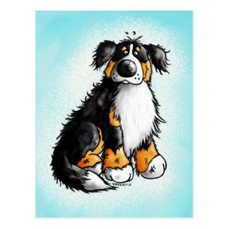 Lustige Bernese GebirgshundeCartoon-Postkarte Postkarten