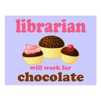 Lustige Bibliothekar-Postkarte Postkarte