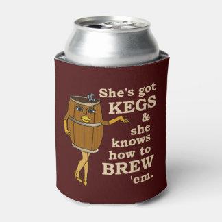 Lustige Bier-Brauer-Fass-Frau 2 Dosenkühler