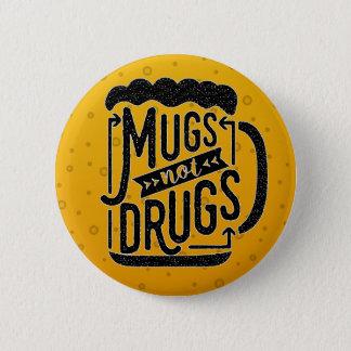 Lustige Bier-Tassen-nicht Runder Button 5,1 Cm