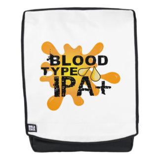 Lustige Bier-Trinker-Blutgruppe IPA+ Rucksack